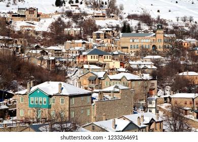 NYMFAIO VILLAGE, GREECE.  One of the most beautiful Greek mountainous villages, Florina prefecture, Macedonia.
