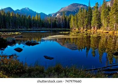 Nymph Lake at Rocky Mountain National Park, Colorado USA