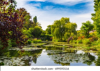 Nymphea Pond in garden of Claude Monet in Giverny, France