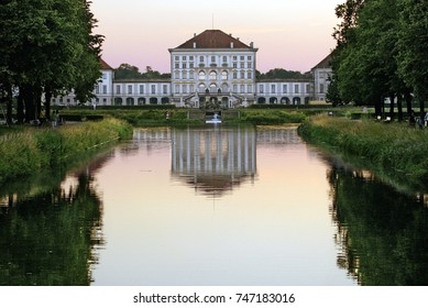 Nymphenburg Palace with Nymphenburg Canal, Munich, Bavaria, Germany, Europe