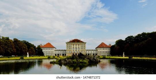 Nymphenburg Palace in Munich, Bavaria, Germany. July 2019