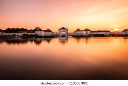 Nymphenburg Palace sunset