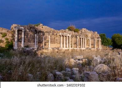 Nympheum of Side ( 7 Çeşme Side antik kenti )