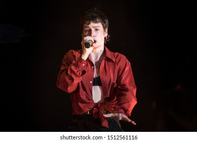 Nyon, Switzerland - 23 July 2019: concert of French singer Christine and the Queens at Paleo Festival