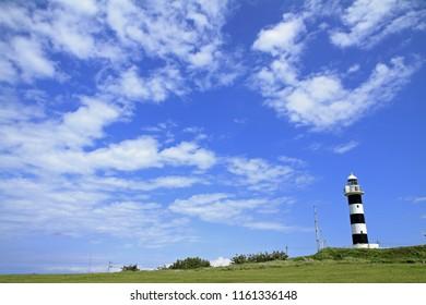 Nyudozaki lighthouse in Oga, Akita, Japan