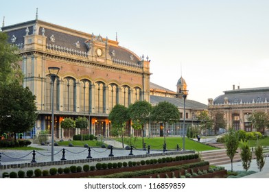 Nyugati Train Station in Budapest, Hungary. The Station was constructed by Gustafe Eiffel, architect of Eiffel tower.