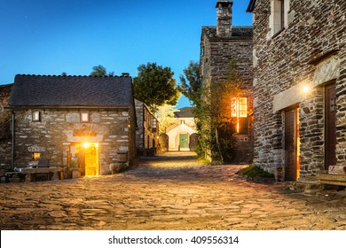 O Cebreiro, Spain. Historic Village at night