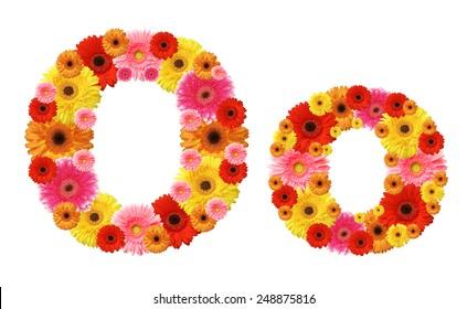 o, flower alphabet