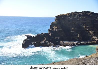 Oahu Blowhole and Coastline