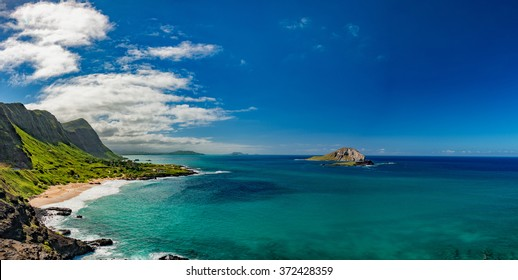 oahu east coast landscape panorama