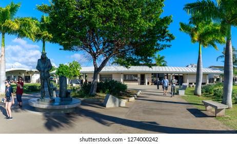 Oahu, Hawaii - Dec 25, 2018 : View of the Pearl Harbor Historic sites, Honolulu