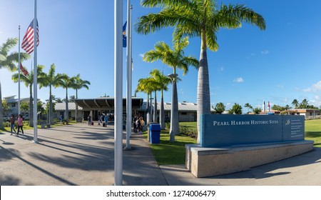 Oahu, Hawaii - Dec 25, 2018 : View of the Pearl Harbor Historic sites, Honolulu