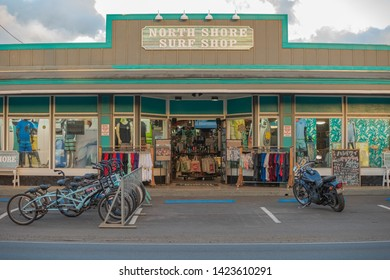 Oahu, Hawaii, USA 10/06/2016. North Shore Surf Shop in haleiwa, North Shore