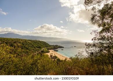 Oahu North Shore in Hawaii overlooking Waimea Bay