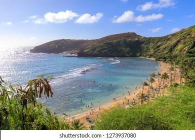 Oahu's Most Famous Beach, Hanauma Bay, Oahu Hawaii - Image