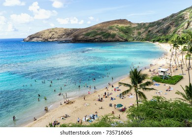Oahu's Most Famous Beach, Hanauma Bay, Oahu Hawaii
