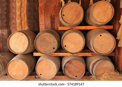 Oak barrels for fermentation wine