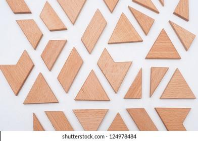 oak concept on wood puzzle