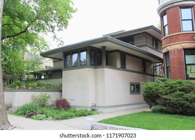 Oak Park, Illinois - 05/16/2015: Frank Thomas Residence. Built 1901. Architect Frank Lloyd Wright.