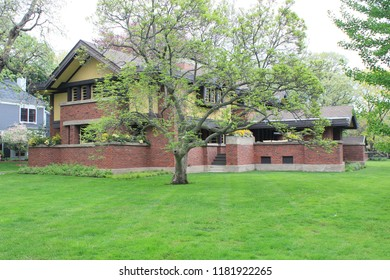 Oak Park, Illinois - 05/16/2015: Peter Beachy Residence. Architect Frank Lloyd Wright