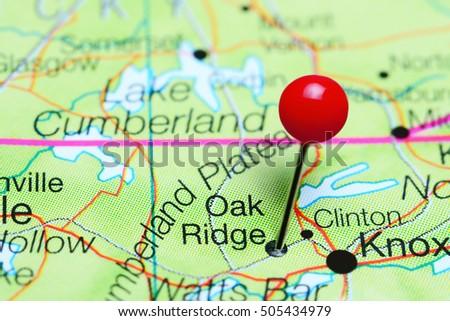 Oak Ridge Nc Map.Oak Ridge Pinned On Map Tennessee Stock Photo Edit Now 505434979