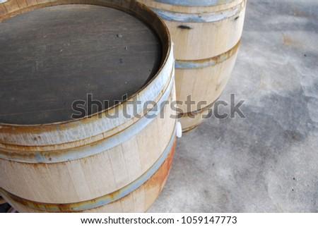 Oak Wine Barrels Used Red Wine Stock Photo Edit Now 1059147773