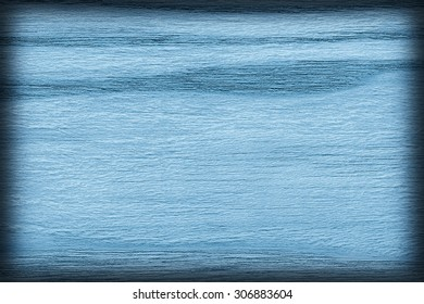 Oak Wood Bleached and Marine Blue Stained, Vignette Grunge Texture Sample.