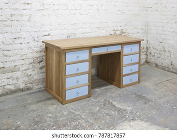 oak working desk
