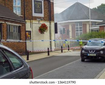 Oakengates,Shropshire/England - Sept 14 2015:Fire at Claddagh Pub