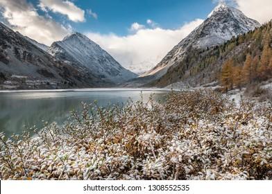 Oakham lake lake of Joint stock company-whom. Altai Mountains. Foot of Mount Belukha. Ust-Koksinsky district. Altai Republic