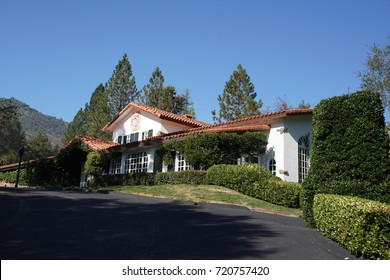 OAKHURST, CALIFORNIA - SEPTEMBER 18, 2017: Relais & Chateaux Relais Gourmands  The Elderberry House restaurant in Oakhurst. Relais & Chateaux is a collection of gourmet restaurants and boutique hotels
