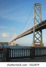 Oakland Bay Bridge in late afternoon light