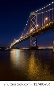 Oakland Bay Bridge at night, San Francisco, California