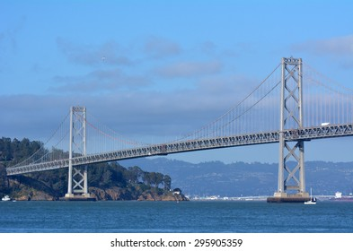 Oakland Bay Bridge San Francisco, California.It has one of the longest spans in the United States.