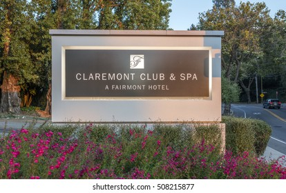 OAKLAND, CA AUGUST 29, 2016: Claremont Hotel and Resort, a landmark built in 1915, located at the border of Oakland and Berkeley, with views of San Francisco and the Golden Gate Bridge.