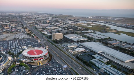 OAKLAND, CA JUNE 13: The Oracle Arena located in Oakland on June 13, 2017. The Oracle Arena is a multi-purpose sports and concert venue which is home to the Golden State Warriors of the NBA