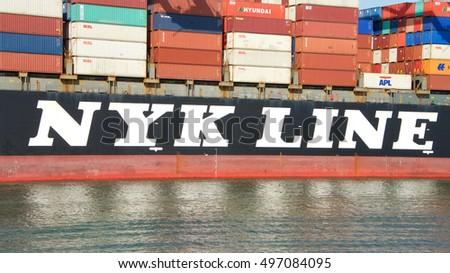 Oakland CA October 07 2016 Cargo Stock Photo (Edit Now
