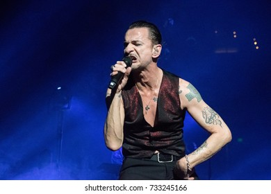 OAKLAND, CA - OCTOBER 10, 2017: Depeche Mode in concert at the Oracle Arena in Oakland, CA