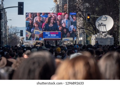 Oakland, Califonia / Usa - January 27 2019: Senator Kamala Harris, Democrat of California, kicked off her presidential campaign with a rally Sunday in Oakland, Calif.
