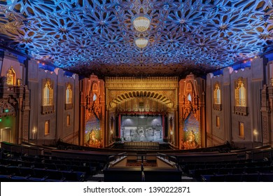 Oakland, California - May 4, 2019: Fox Oakland Theatre right after a live show.