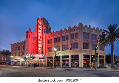 OAKLAND, CA-SEP 1, 2016: The Fox Oakland Theatre is a 2,800-seat concert hall, a former movie theater, which originally opened in 1928. It was refurbished in the 2000s and reopened in February, 2009.