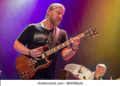 Oakland, CA/USA - 9/9/16: Derek Trucks of Tedeschi Trucks Band performs at the Fox Theater in Oakland.  Derek has also performed with The Allman Brothers Band, Bob Dylan, Joe Walsh and Stephen Stills.