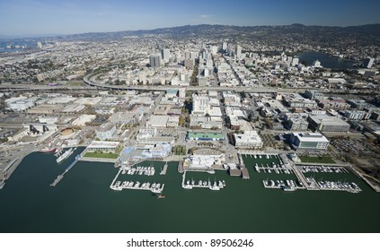 The Oakland City and the Downtown aerial view