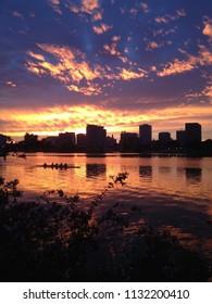 Oakland Lake Merritt Sunset