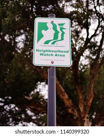 Oakleigh, VIC/Australia - July 21 2018: Neighborhood Watch Area Sign