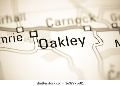 Oakley on a geographical map of UK