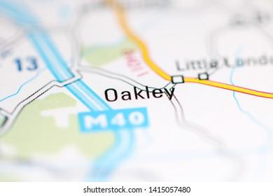 Oakley. United Kingdom on a geography map