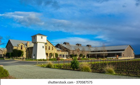 Oakville, CA/USA - Jan. 31, 2016: Silver Oak Cellars. Established in 1972, Silver Oak Cellars is a family-owned, California winery dedicated to producing only Cabernet Sauvignon.