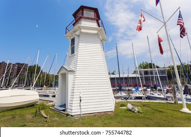 Oakville Lighthouse by Lake Ontario. Ontario, Canada.