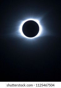 Oakville, Missouri, USA - August 21, 2017: shot of the total solar eclipse during totality.